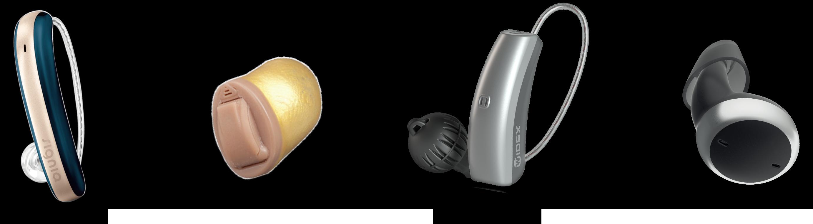 4種の補聴器